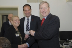 Minister and Geoff Shaw MP presenting cheque to Frankston U3A